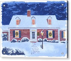 New England Christmas Acrylic Print by Mary Helmreich