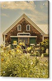 New England Farmhouse Acrylic Print by Juli Scalzi