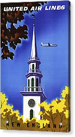 New England United Air Lines Acrylic Print by Mark Rogan