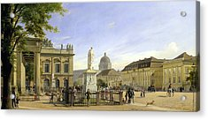 New Guardshouse In Berlin Acrylic Print by Johann Philipp Eduard Gartner