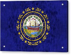 New Hampshire Flag Acrylic Print by World Art Prints And Designs