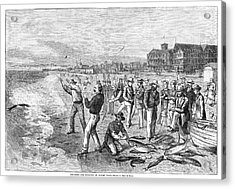 New Jersey Fishing, 1880 Acrylic Print by Granger