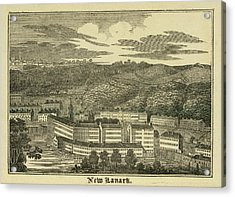 New Lanark Acrylic Print by British Library