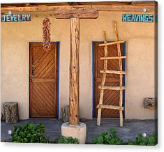 New Mexico Shop Fronts Acrylic Print by Heidi Hermes