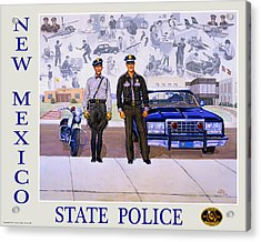 New Mexico State Police Poster Acrylic Print by Randy Follis