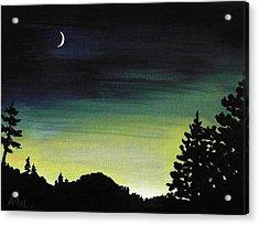New Moon Acrylic Print by Anastasiya Malakhova
