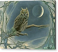 New Moon   Acrylic Print by Paul Krapf