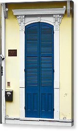 New Orleans Blue Door Acrylic Print by Christine Till