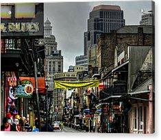 New Orleans - Bourbon Street 008 Acrylic Print by Lance Vaughn