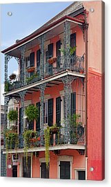 New Orleans Colorful Homes Acrylic Print by Christine Till