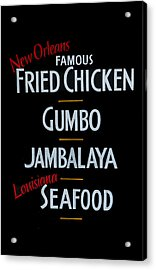 New Orleans Food Acrylic Print by Cecil Fuselier