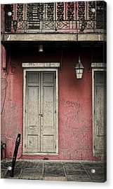 New Orleans French Quarter Balcony And Doorway Acrylic Print by Ray Devlin
