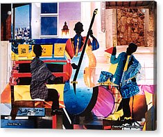 New Orleans Jazz Trio B Acrylic Print by Everett Spruill