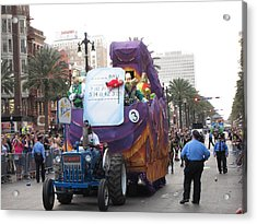 New Orleans - Mardi Gras Parades - 121227 Acrylic Print by DC Photographer