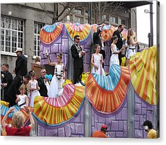 New Orleans - Mardi Gras Parades - 121266 Acrylic Print by DC Photographer
