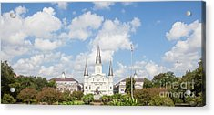 New Orleans Panorama Acrylic Print by Kay Pickens