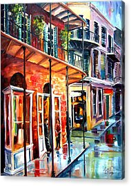 New Orleans Rainy Day Acrylic Print by Diane Millsap