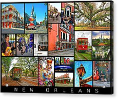 New Orleans Acrylic Print by Steve Harrington