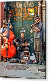 New Orleans Street Musicians Acrylic Print by Steve Harrington