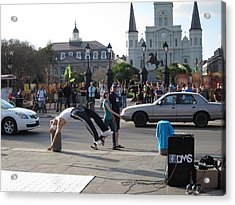 New Orleans - Street Performers - 121215 Acrylic Print by DC Photographer
