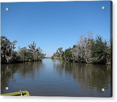 New Orleans - Swamp Boat Ride - 121243 Acrylic Print by DC Photographer