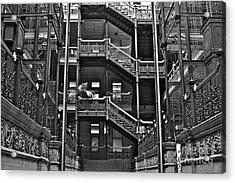 New Photographic Art Print For Sale Bradbury Building Downtown La Acrylic Print by Toula Mavridou-Messer
