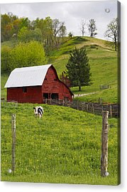 New Red Paint Acrylic Print by Mike McGlothlen