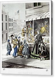 New Year's Eve, 1865 Acrylic Print by Granger