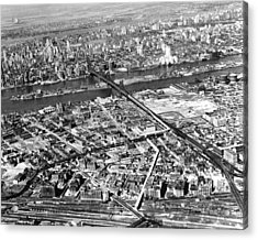 New York 1937 Aerial View  Acrylic Print by Underwood Archives