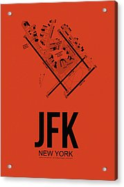 New York Airport Poster 2 Acrylic Print by Naxart Studio