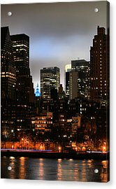 New York City Blue Acrylic Print by JC Findley