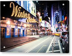 New York City - Broadway Lights And Times Square Acrylic Print by Vivienne Gucwa