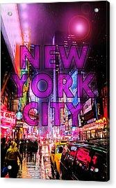 New York City - Color Acrylic Print by Nicklas Gustafsson