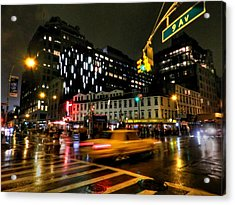 New York City - Greenwich Village 001 Acrylic Print by Lance Vaughn