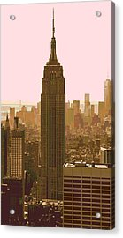 New York City Poster Acrylic Print by Dan Sproul