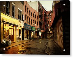 New York City - Rainy Afternoon - Doyers Street Acrylic Print by Vivienne Gucwa