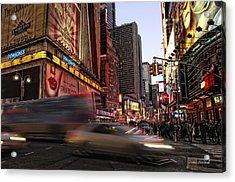New York City Rush Acrylic Print by Donna Blackhall