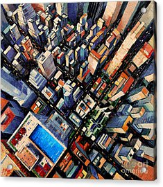 New York City Sky View Acrylic Print by Mona Edulesco