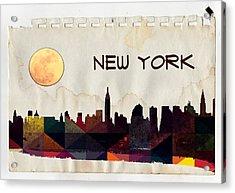 New York City Skyline Acrylic Print by Celestial Images
