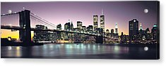 New York City Skyline Acrylic Print by Jon Neidert