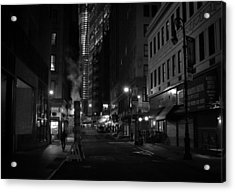 New York City Street - Night Acrylic Print by Vivienne Gucwa