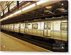 New York City Subway 2 Acrylic Print by Sarah Loft