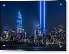 New York City Tribute In Lights Acrylic Print by Susan Candelario