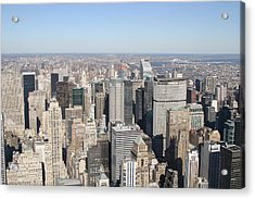 New York City - View From Empire State Building - 12127 Acrylic Print by DC Photographer