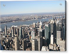 New York City - View From Empire State Building - 12129 Acrylic Print by DC Photographer