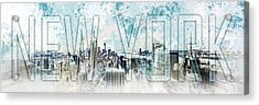 New York Digital-art No.1 Acrylic Print by Melanie Viola