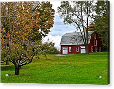 New York Farm Acrylic Print by Frozen in Time Fine Art Photography
