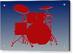 New York Giants Drum Set Acrylic Print by Joe Hamilton