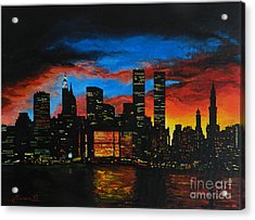 New York In The Glory Days Acrylic Print by Alexandru Rusu