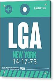 New York Luggage Poster 2 Acrylic Print by Naxart Studio